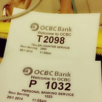 Photo taken at OCBC Bank by Eva L. on 1/20/2014