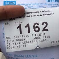 Photo taken at Bank Simpanan Nasional (BSN) Serdang by Mohd M. on 1/3/2017