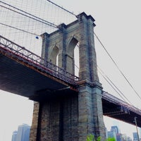 Photo taken at Brooklyn Bridge by Natalya on 5/17/2013