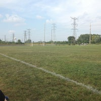 Photo taken at Metea Valley Soccer Fields by Shannon H. on 8/26/2013