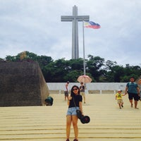 Photo taken at The Cross - Mt. Samat by Tefi M. on 5/24/2015