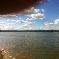 Photo taken at Пляж Оки by Antoha S. on 8/16/2013