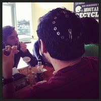 Photo taken at MOOYAH Burgers, Fries & Shakes by Drew P. on 1/12/2014