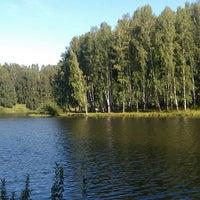 Photo taken at Озеро на Юбилейке by Илья Ч. on 8/17/2013