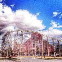 Photo taken at The Desperado Roller Coaster by Paulette E. on 2/3/2014