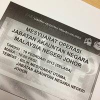 Photo taken at Akauntan Negara Malaysia negeri johor by F M N © on 2/19/2013