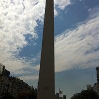 Photo taken at Plaza 9 de Julio by Renato D. on 4/14/2013
