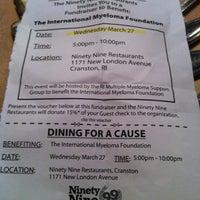 Photo taken at Ninety Nine Restaurant by Todd E. on 3/27/2013