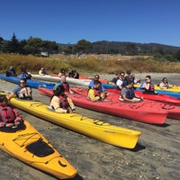 Photo taken at Half Moon Bay Kayak Co. by Felipe K. on 6/21/2016