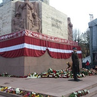 Photo taken at Freedom Monument by Jolanta on 11/18/2013