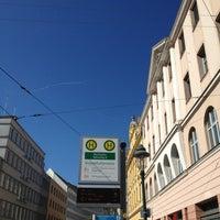 Photo taken at H Moritzplatz Bahnsteig B by Jörg S. on 9/4/2013