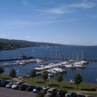 Photo taken at Watkins Glen Harbor Hotel by Sarah on 6/9/2013
