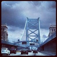Photo taken at Benjamin Franklin Bridge by Brian O. on 7/3/2013