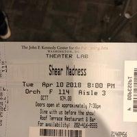 4/10/2018 tarihinde Michael D.ziyaretçi tarafından Kennedy Center Theatre Lab'de çekilen fotoğraf