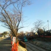Photo taken at さくら小橋 by zoumasa on 2/23/2014