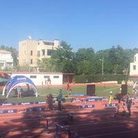 Photo taken at Δημοτικό Στάδιο Φιλοθέης by Στάθης Κ. Σ. on 9/10/2017