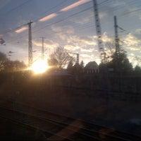 Photo taken at Bahnhof Roßlau (Elbe) by Inna K. on 2/8/2014