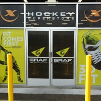 Photo taken at Hockey-X Superstore by Brent H. on 4/19/2013