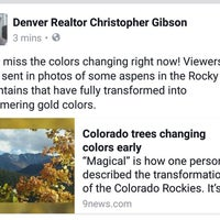 Photo taken at Denver Realtor Chris Gibson by Christopher G. on 9/13/2016