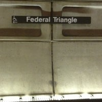 Photo taken at Federal Triangle Metro Station by David B. on 12/30/2012