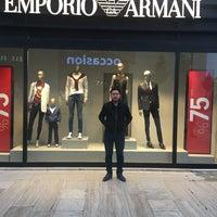 Photo taken at Armani by Berat B. on 4/22/2017