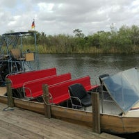 Photo taken at Buffalo Tiger's Airboat Rides by Christoph L. on 2/4/2016