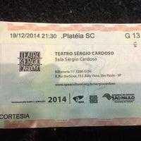 Photo taken at Teatro Sérgio Cardoso by Daniel R. on 12/19/2014