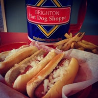 Photo taken at Brighton Hot Dog Shoppe by Jim W. on 11/9/2012
