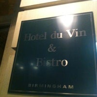 Photo taken at Hotel du Vin & Bistro by Simon B. on 9/23/2012