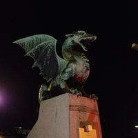 Photo taken at Zmajski most / Dragon Bridge by Klas U. on 8/29/2013