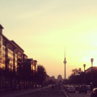 Photo taken at Karl-Marx-Allee by Mandy R. on 4/24/2013