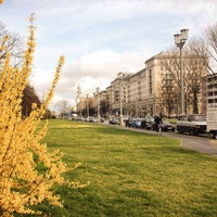 Photo taken at Karl-Marx-Allee by Mandy R. on 3/22/2014