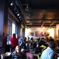 Photo taken at Café de la Presse by Mike H. on 10/14/2012