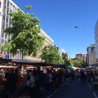 Photo taken at Marché Helvétique (Rive) by Darren D. on 5/24/2014