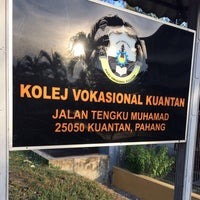 Photo taken at Kolej Vokasional Kuantan by JOe L. on 5/8/2016