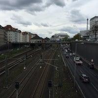 Photo taken at Kaiserdammbrücke by David L. on 4/28/2015
