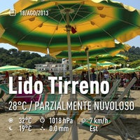 Photo taken at Lido Tirreno by Francesco P. on 8/18/2013