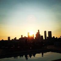 Photo taken at Pool at Barker Block by Ricardo D. on 7/5/2013