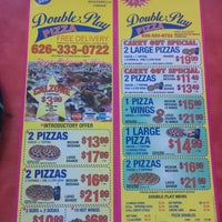 Photo taken at Double Play Pizza by Da J. on 10/5/2014