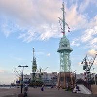 Photo taken at 旧新港第五突堤信号所 (神戸港旧信号所) by @taka6149 on 8/28/2016
