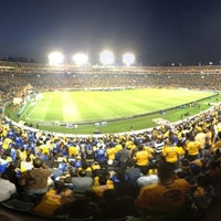 Photo taken at Estadio Universitario by Hector V. on 2/16/2013