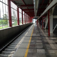 Photo taken at Tren Suburbano San Rafael by Leonel C. on 9/5/2013