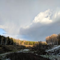 Photo taken at Ноксинский лес by Ruslan on 10/28/2017