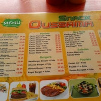 Photo taken at Snack Oussama by Hamza E. on 10/10/2013