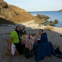 Photo taken at Kayalık Beach by Akın on 1/19/2014