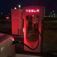 Photo taken at Tesla SuperCharger by Mark P. on 10/8/2014