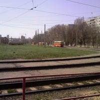 Photo taken at Кольцо трамвая 5,7,10 by Таня М. on 4/18/2014