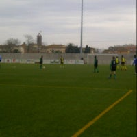 Photo taken at Camp De Futbol De St. Pere Pescador by Sandra G. on 1/27/2013