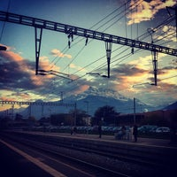 Photo taken at Gare d'Aigle by Tom O. on 10/31/2013