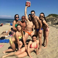 Photo taken at Spiaggia Rodos by Nicky Ciri on 6/2/2015